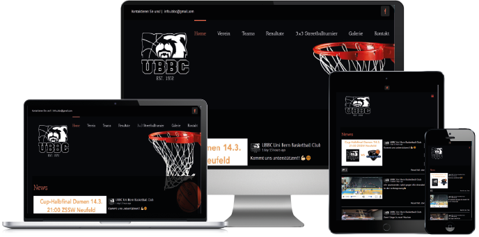 ubbc.ch powered by Centifa Webdesign Bern