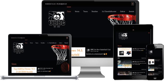 ubbc.ch powered by Centifa Webdesign Bern